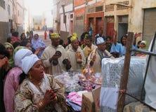 阿加迪尔巴巴里人庆祝婚姻摩洛哥 库存图片