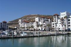 阿加迪尔-摩洛哥的小游艇船坞 库存图片
