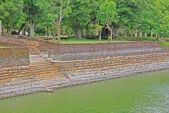 阿努拉德普勒大象池塘,斯里兰卡联合国科教文组织世界遗产名录 免版税图库摄影