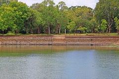 阿努拉德普勒大象池塘,斯里兰卡联合国科教文组织世界遗产名录 图库摄影