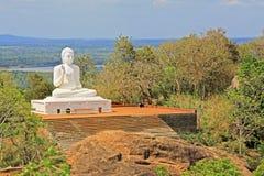 阿努拉德普勒Mihintale菩萨雕象,斯里兰卡联合国科教文组织世界遗产名录 免版税库存照片