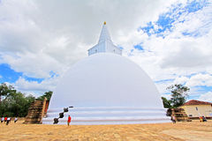 阿努拉德普勒Mirisawatiya Stupa,斯里兰卡联合国科教文组织世界遗产名录 免版税库存照片