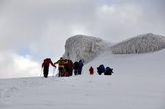 阿勒山上升的挂接 库存照片
