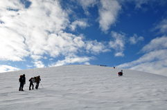 阿勒山上升的挂接 免版税图库摄影