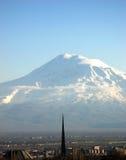 阿勒山山 库存照片