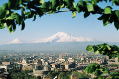 阿勒山山 库存图片
