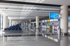 阿勒马克图姆国际机场在迪拜 免版税图库摄影