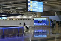 阿勒马克图姆机场 库存照片