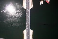 阿勒马克图姆桥梁在迪拜 库存图片