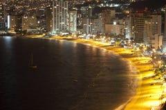阿卡普尔科海湾墨西哥 免版税库存照片
