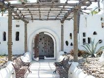 阿卡普尔科海湾的餐馆 免版税库存照片