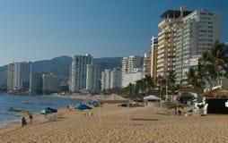 阿卡普尔科海滩 免版税库存照片
