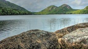 阿卡迪亚乔丹缅因国家公园池塘 库存照片