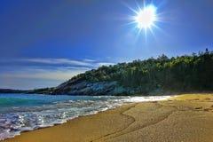 阿卡迪亚海滩海岸缅因国家公园 免版税库存图片
