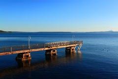 阿卡迪亚码头海洋早晨 库存图片