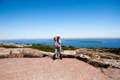 阿卡迪亚缅因国家公园美国 免版税库存照片