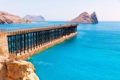 阿吉拉斯Embarcadero el奥尼略码头穆尔西亚西班牙 免版税库存照片