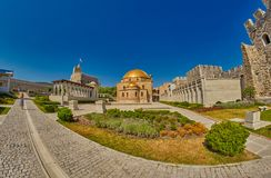阿哈尔齐赫,乔治亚- 2017年8月08日:著名Rabati城堡Comp 免版税库存图片