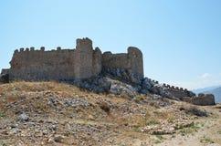 阿哥斯城堡在伯罗奔尼撒,希腊 免版税库存图片