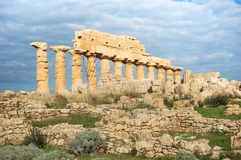 阿哥里根托古老废墟  免版税库存照片