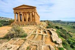 阿哥里根托希腊寺庙 免版税库存图片