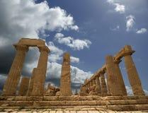 阿哥里根托希腊语juno西西里岛寺庙 库存图片