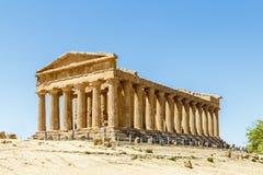 阿哥里根托意大利西西里岛寺庙谷 免版税库存照片