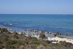 阿哥里根托海滩台阶土耳其 库存图片