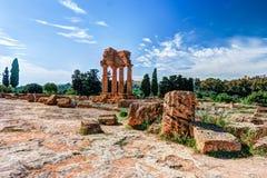 阿哥里根托,西西里岛 铸工北河三寺庙 库存图片