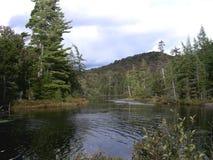阿地伦达山脉,湖Durant, NY 库存图片