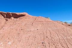 阿塔卡马沙漠干旱的平的风景 库存图片