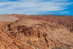 阿塔卡马沙漠干旱的谷 免版税库存照片