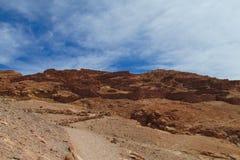 阿塔卡马沙漠干旱的风景 库存图片