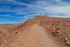阿塔卡马沙漠干旱的风景 免版税库存照片