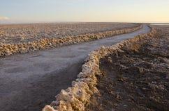 阿塔卡马沙漠平面的盐 图库摄影
