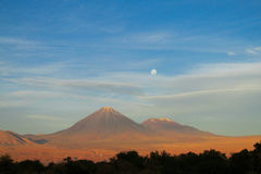 阿塔卡马沙漠火山 库存图片