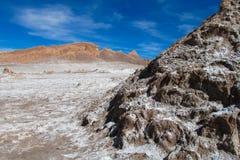 阿塔卡马沙漠瓦尔de la月/月球 库存照片