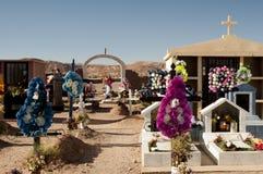 阿塔卡马沙漠的公墓 库存照片