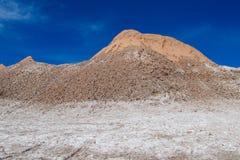 阿塔卡马沙漠盐平在月亮谷 库存图片