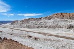 阿塔卡马沙漠风景 图库摄影