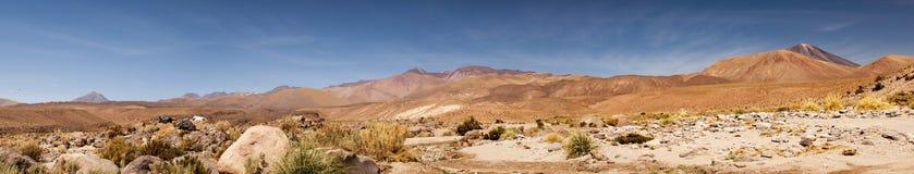 阿塔卡马沙漠,智利全景  免版税图库摄影