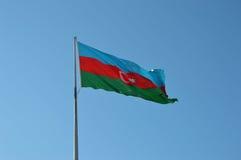阿塞拜疆旗子 免版税库存图片
