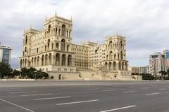 阿塞拜疆的政府房子在巴库,阿塞拜疆 免版税图库摄影