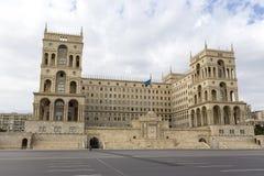 阿塞拜疆的政府房子在巴库,阿塞拜疆 库存图片