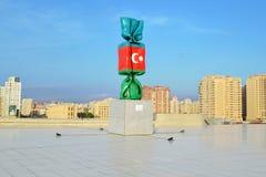 阿塞拜疆的旗子 免版税库存照片