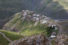 阿塞拜疆的村庄Xinaliq 库存图片
