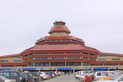 阿塞拜疆 秃头 以盖达尔・阿利耶夫命名国际机场 免版税库存图片