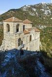 阿塞诺夫格勒,保加利亚- 2016年10月1日:Asen ` s堡垒,阿塞诺夫格勒,保加利亚秋天视图  免版税图库摄影