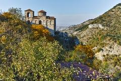 阿塞诺夫格勒,保加利亚- 2016年10月1日:Asen ` s堡垒,阿塞诺夫格勒,保加利亚秋天视图  免版税库存照片