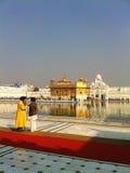 阿姆利则大厦包括整个金金黄印度叶子寺庙 免版税库存图片